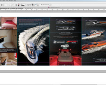 Brochures being designed in Adobe Indesign